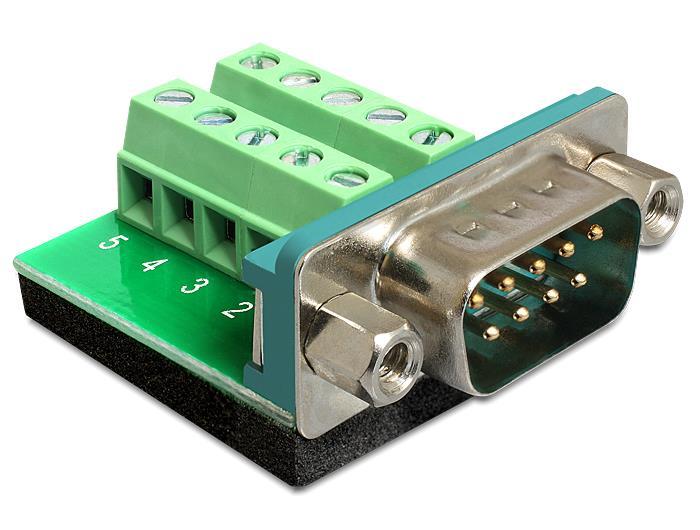 Delock Adapter Sub-D 9 pin male > Terminal block 10 pin
