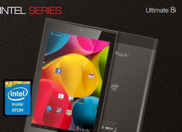 Lark Ultimate 8i BLACK, 8'' IPS, Z3735F, 16GB, 1GB RAM, BT, Android 4.4, černý