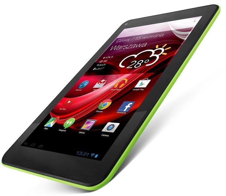 Lark Evolution X4 7 IPS, 7'' IPS, 1.3GHz, 8GB, 512MB RAM, Android 4.4, zelený