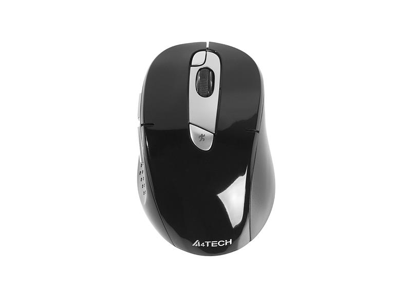 Myš A4-Tech V-Track G11-570FX (černá+stříbrná) kovové pojezdy - Synch RF
