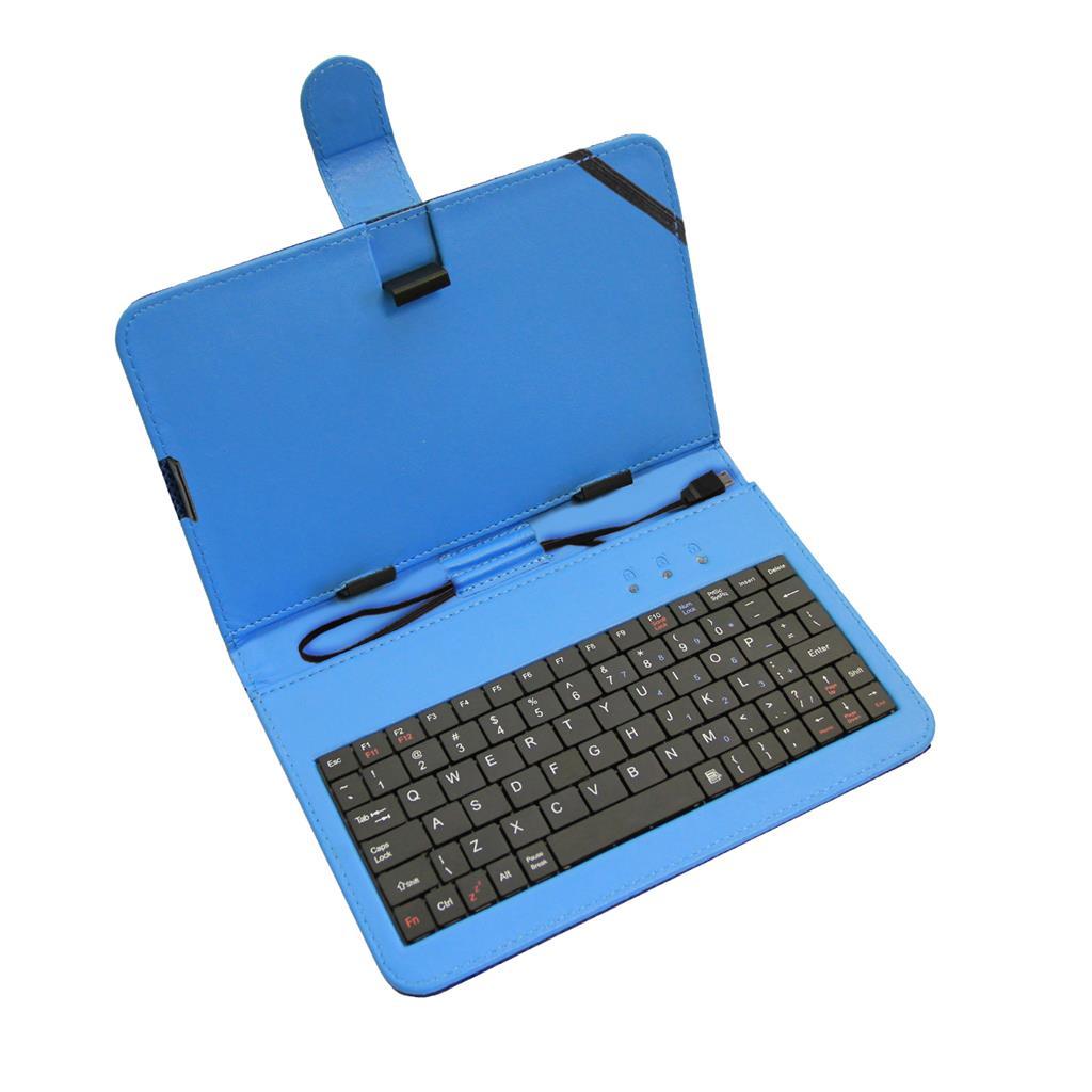 ART AB-101B pouzdro + micro USB klávesnice pro TABLET 7'' modrá