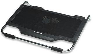 Manhattan chladící stojan pod notebook, 1 ventilátor, 2x USB, kovový podstavec
