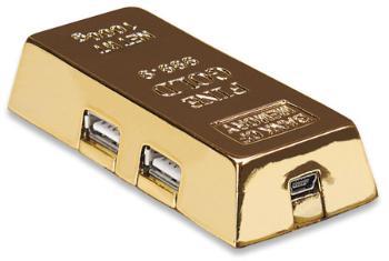 Manhattan USB 2.0 Hub ''zlatá cihla'', 4 porty