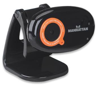 Manhattan 860 Pro webkamera HD s mikrofonem, USB, černá