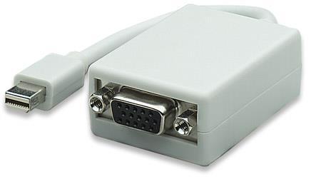 Manhattan Mini-DisplayPort Male to VGA Female Adapter, Active