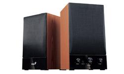 Genius reproduktory SP-HF1250B, 40W, basová kontrola, dřevěné