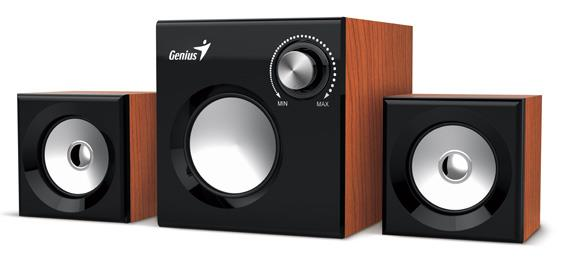 Genius Speakers SW-2.1 370, Wood