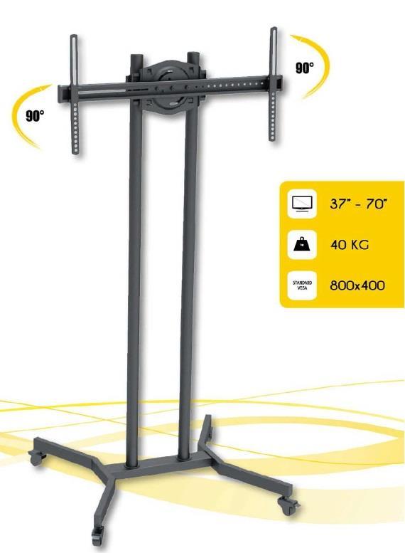 Techly mobilní stojan pro TV LCD/LED/Plasma 37''-70'' VESA, pivot