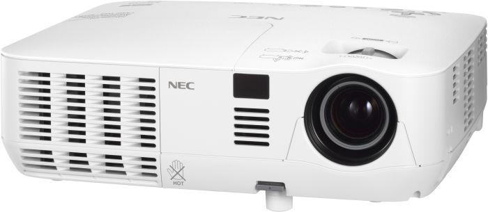 Projektor NEC V281W; DLP; WXGA (1280x800); 2800 ANSI; 3000:1; HDMI, RJ45; 3D