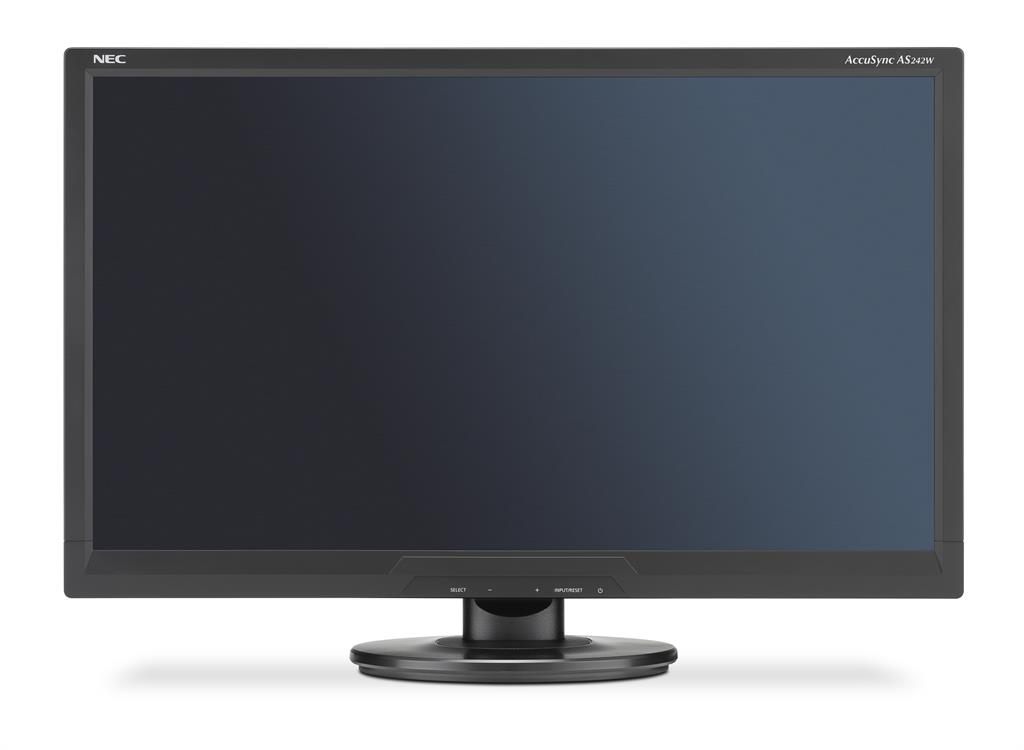 NEC LCD AccuSync LCD AS242W 24'', Full HD, DVI, VGA, černý