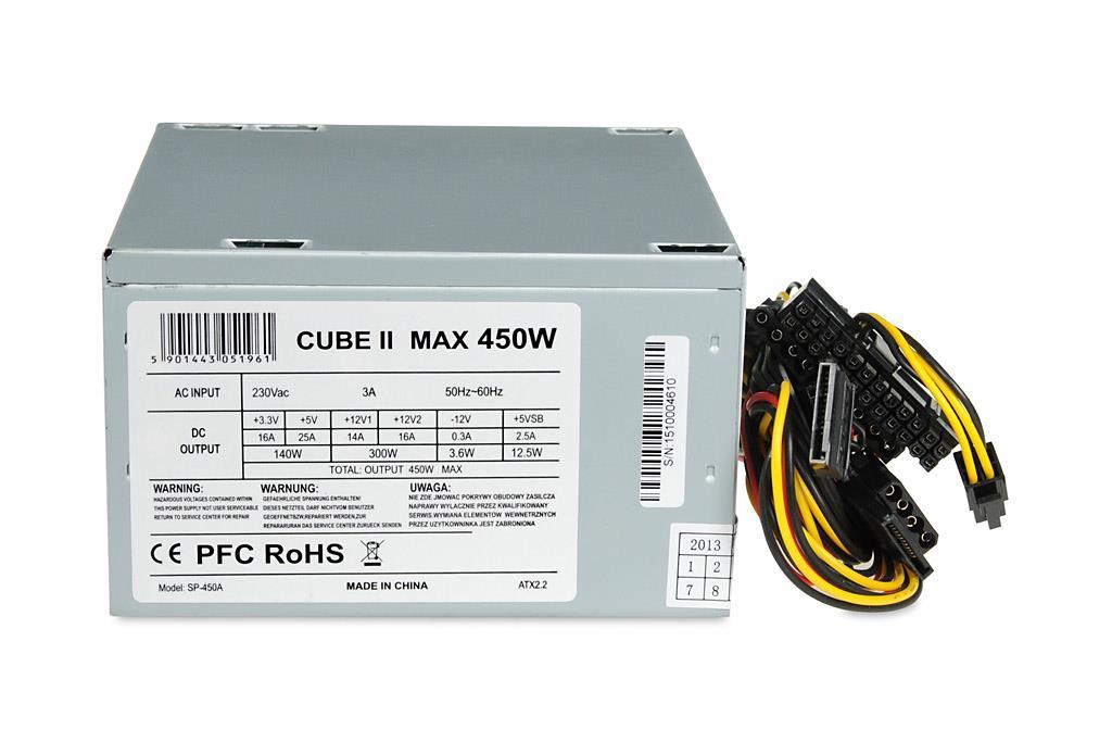 PC zdroj I-BOX CUBE II ATX 450W 12 CM FAN