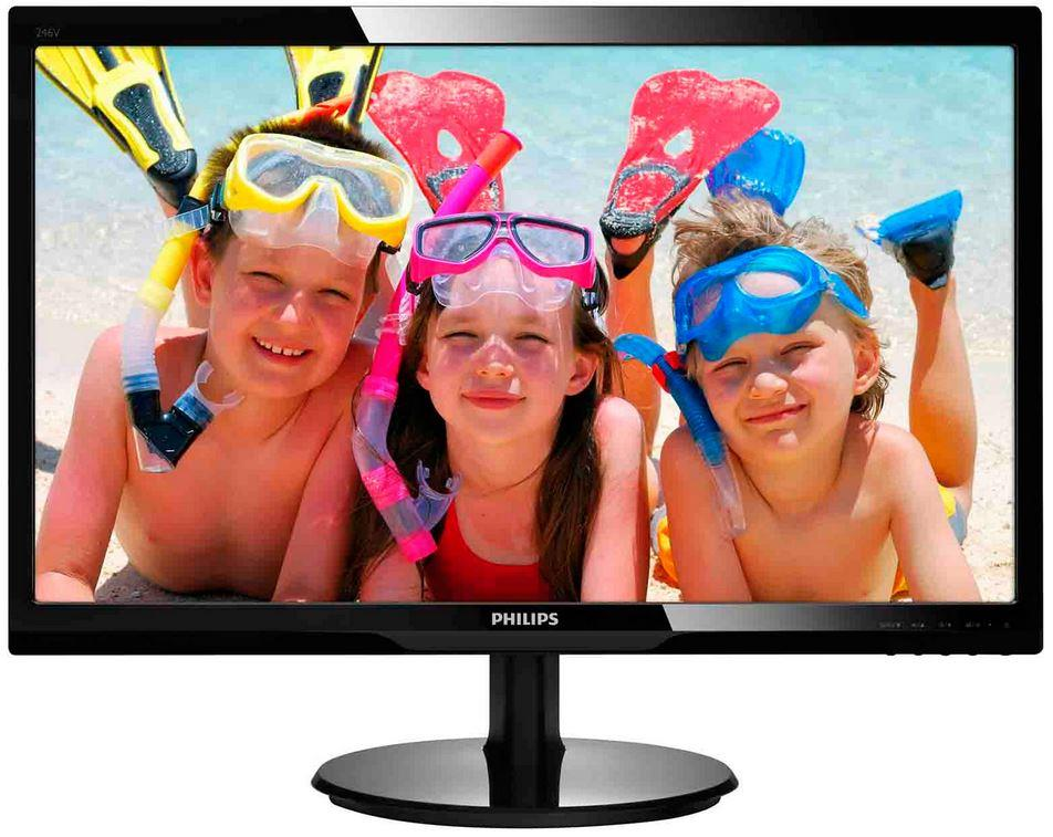 Philips LCD 246V5LHAB/00, 24'' LED, HDMI, repro, 1920x1080, č