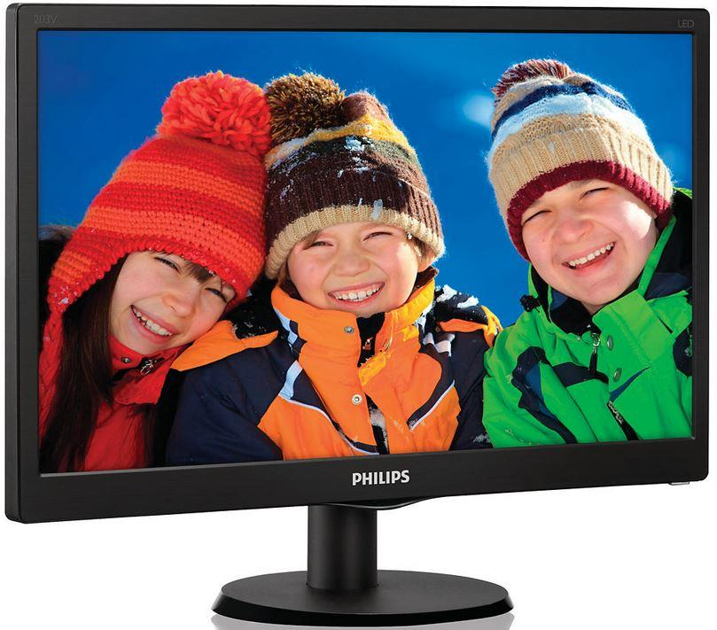 Philips LCD 203V5LSB26/10 , 19.5'', LED,5ms,DC10mil.:1,1600x900,200cd/m2,č