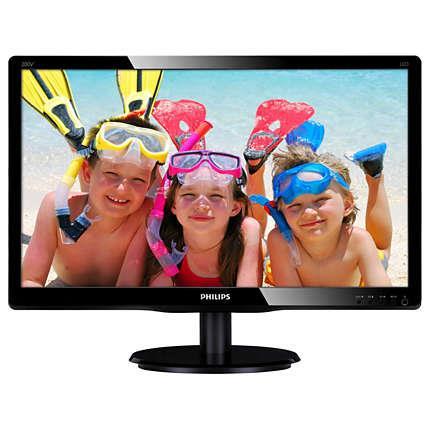 Philips LCD 200V4QSBR 19.5'' LED, DVI, 8ms, 1920x1080