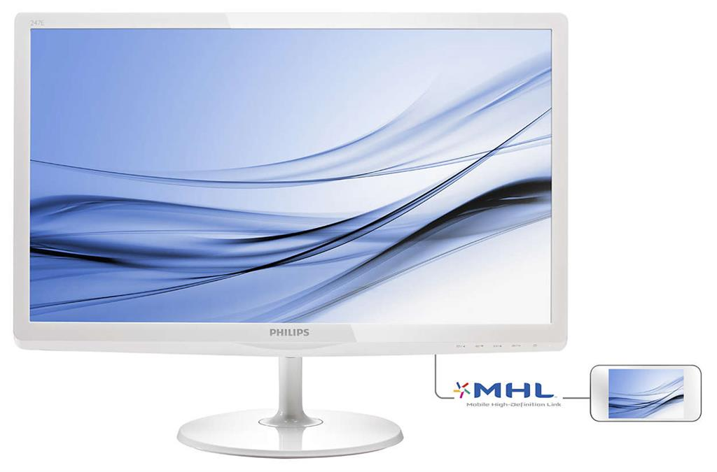 Philips LCD 247E6EDAW/00 23.6'' W-LED, IPS-ADS, 14 ms, DVI-D, VGA, HDMI