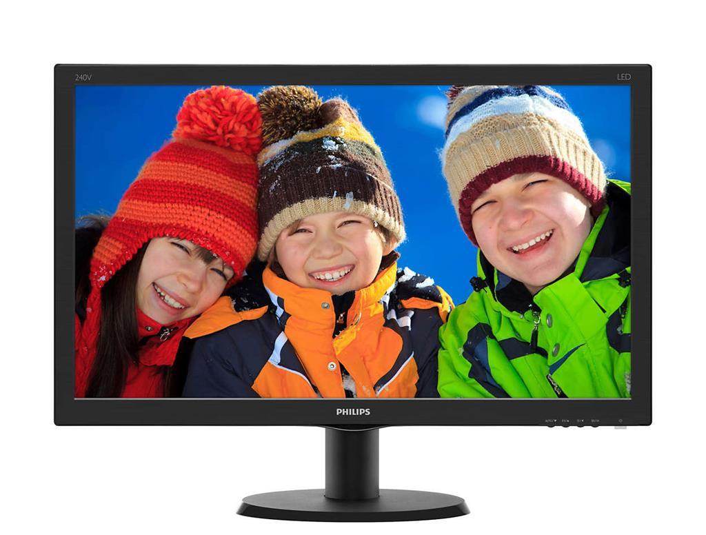 Monitor Philips V-line 240V5QDSB/00, 23.8inch, IPS, HDMI, D-Sub, DVI