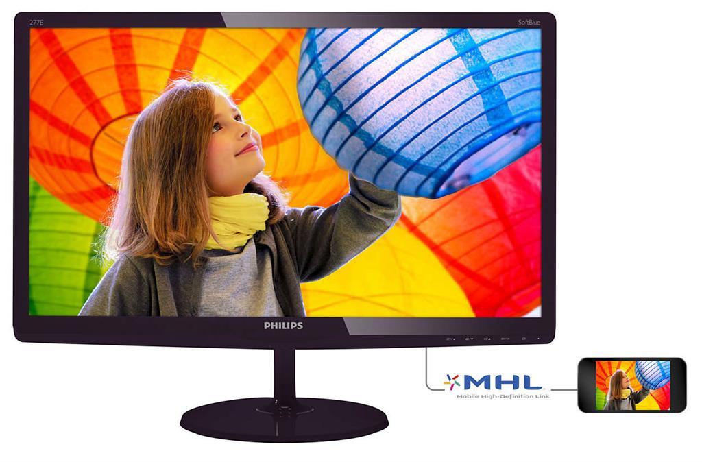 Monitor Philips E-line 277E6LDAD/00 27inch, D-Sub, HDMI, DVI