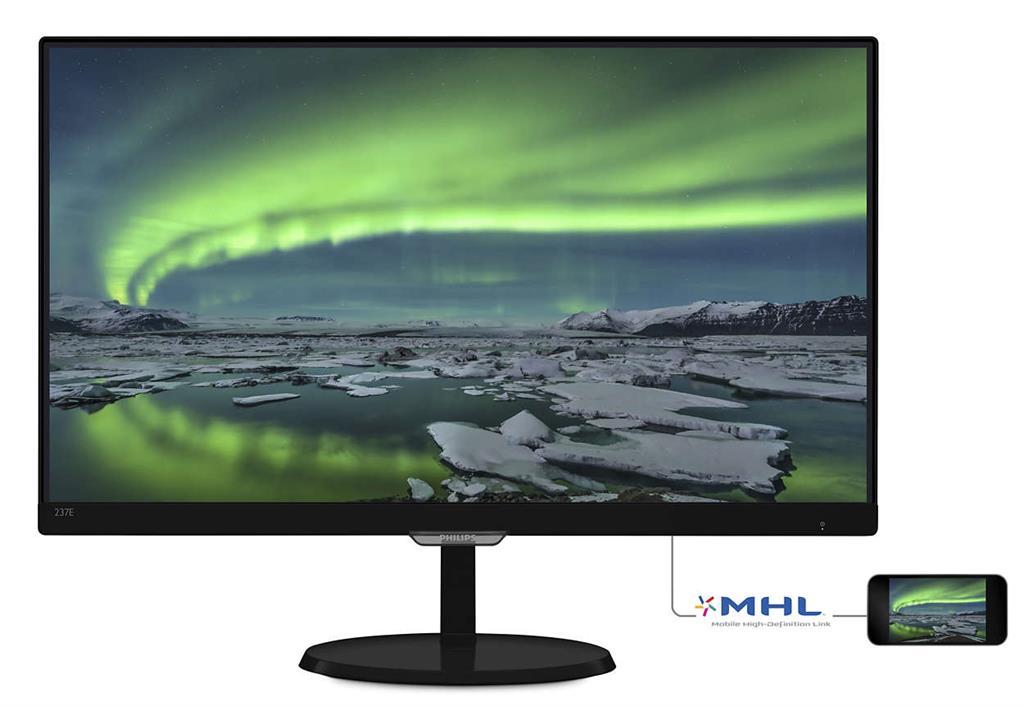 Monitor Philips E-line 237E7QDSB/00 23inch, AH-IPS, D-Sub, DVI, HDMI