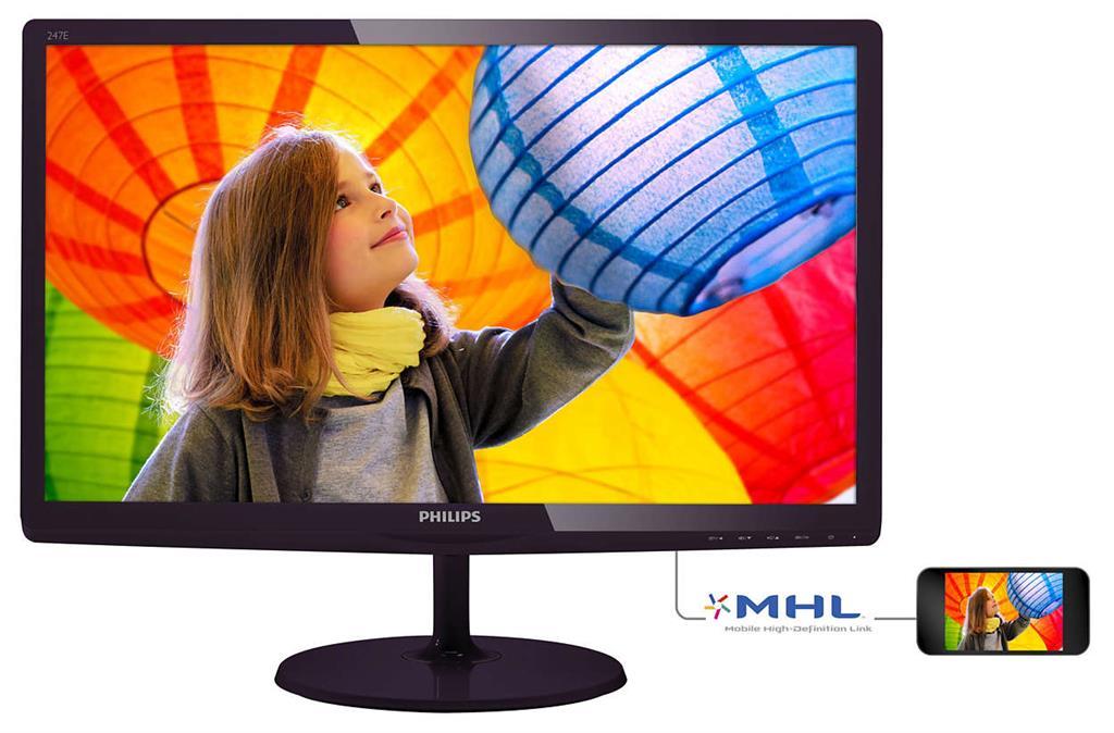 Monitor Philips E-line 247E6LDAD/00 23.6inch, D-Sub, DVI, HDMI