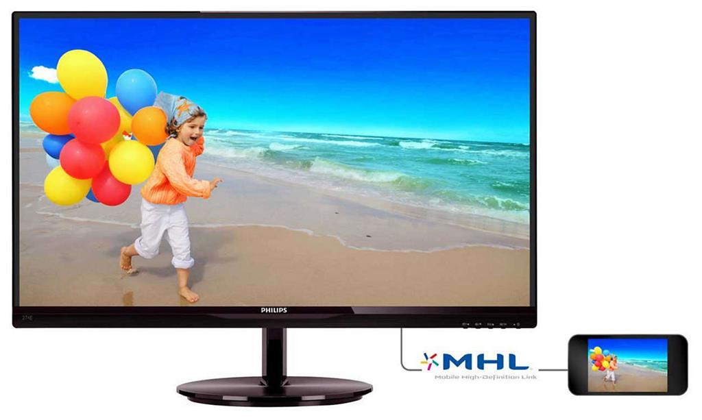 Monitor Philips E-line 274E5QHSB/00 27inch, IPS, D-Sub, HDMI