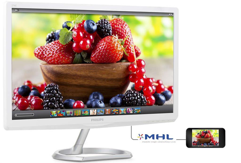 Monitor Philips E-line 276E6ADSS/00 27inch, IPS, D-Sub, DVI, HDMI