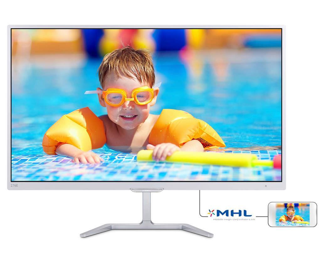 Monitor Philips E-line 276E7QDSW/00 27inch, PLS, D-Sub, DVI, HDMI