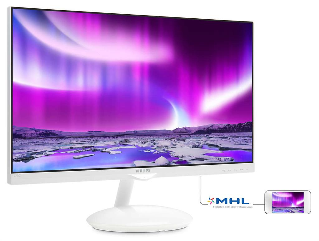Monitor Philips 275C5QHGSW/00, 27inch, IPS, D-Sub, HDMI