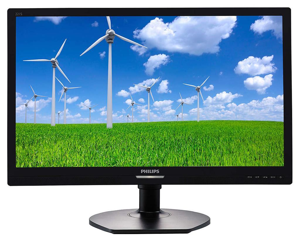Monitor Philips 221S6QYMB 21.5'', IPS, D-Sub/DVI/DP