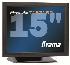 Iiyama LCD Prolite T1531SR-B1 15'', 5ms, DVI, repro, dotykový monitor, č