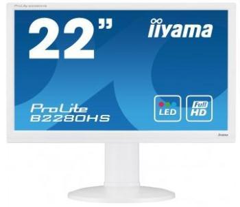 Iiyama LCD-LED B2280HS-W1 21.5'' LED 5ms,DC 5mil.,DVI,HDMI, repro, bílá