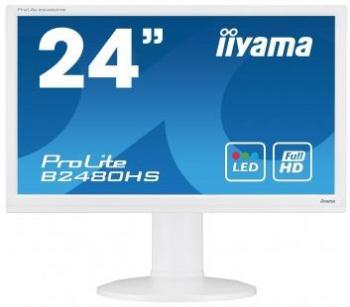 Iiyama LCD-LED 23.6'' Prolite B2480HS-W1 Full HD, 2ms, HDMI, DVI, repro, bílý