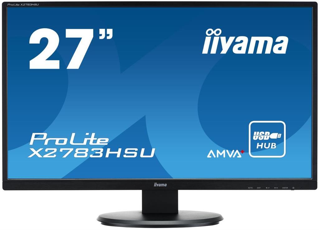 Iiyama LCD-LED Prolite X2783HSU 27'' LED FHD, AMVA+, DVI, HDMI, USB, repro