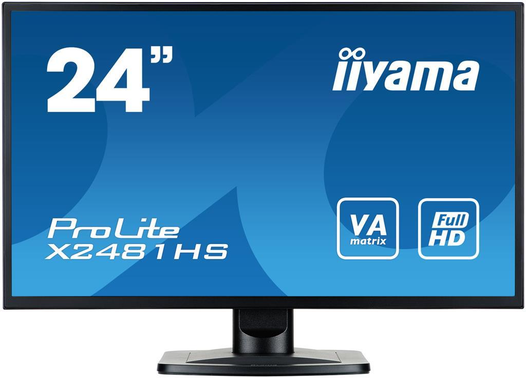 Iiyama LCD-LED 23.6'' Prolite X2481HS-B1 Full HD, 6ms, DVI-D, HDMI, repro, č