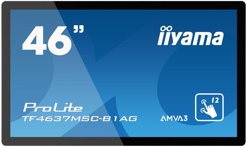 Iiyama dotykový monitor TF4637MSC-B1AG 46inch, Full HD, VGA, DVI-D, HD, erný