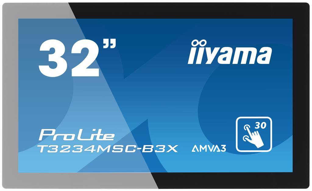 Monitor IIyama T3234MSC-B3X 32inch, AMVA touchscreen, Full HD, VGA, DVI-D, USB