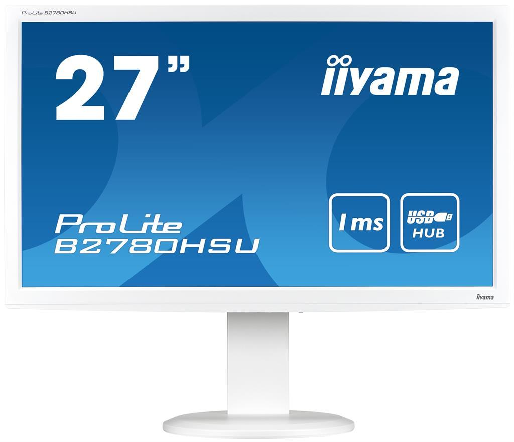 Iiyama LCD-LED B2780HSU-W2 27'', TN, Full HD, 1ms, DVI, HDMI, repro
