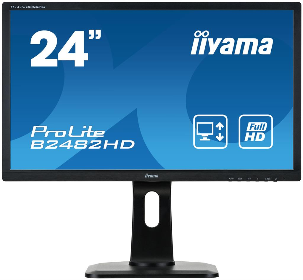 Iiyama LCD-LED Prolite B2482HD-B1 23.6'', TN LED, Full HD, 5ms, VGA, DVI-D,repro