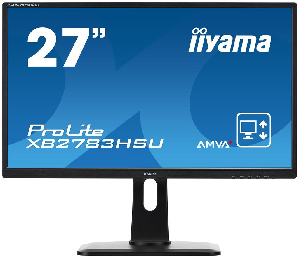 Iiyama LCD-LED 27'' Prolite XB2783HSU, Full HD, 4ms, DVI, DisplayPort, repro, č