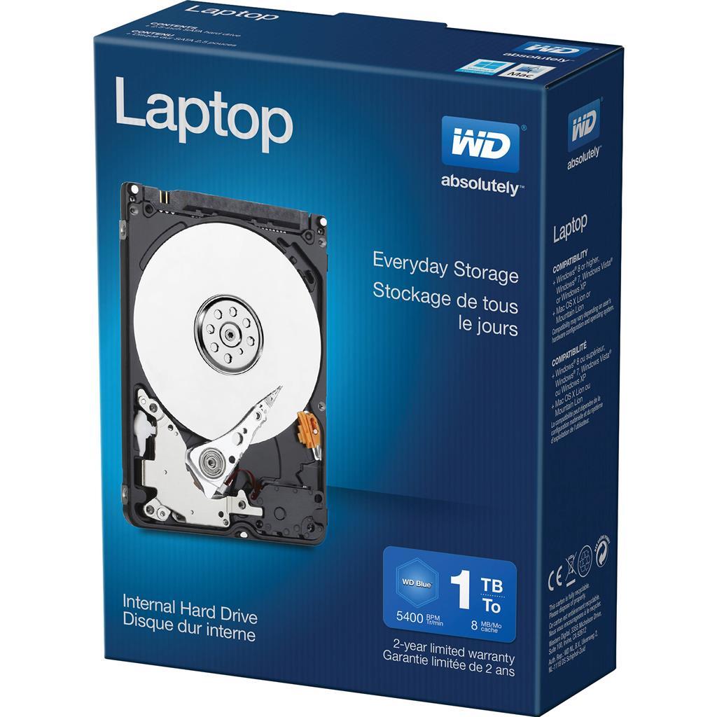 WD LAPTOP EVERYDAY 1TB 5400 8MB 3Gb/s EMEA