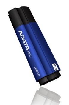 ADATA Superior series S102 PRO 16GB USB 3.0 flashdisk, modrý, hliník, 45/90MB/s