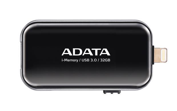 ADATA i-Memory flash disk UE710 32GB pro iPhone,iPad,iPod (iOS),USB3.0, černá
