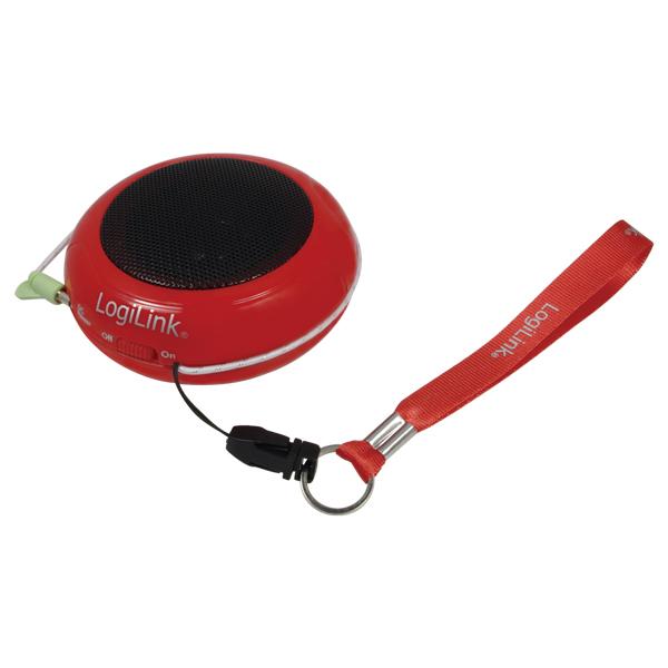 LOGILINK - Přenosný reproduktor k Mp3, červený