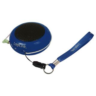 LOGILINK - Přenosný reproduktor k Mp3, modrý