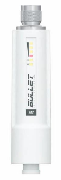 Ubiquiti Bullet M2-HP 2.4GHz Outdoor Radio, 802.11b/g/n, 28dBm, PoE, N-type Male