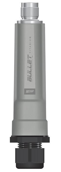 Ubiquiti Bullet M2-Titanium 2.4GHz Outdoor Radio, 802.11b/g/n,28dBm, PoE, N Male