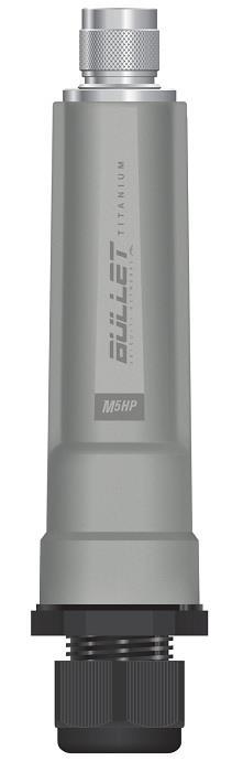 Ubiquiti Bullet M5-Titanium 5GHz Outdoor Radio, 802.11a/n,25dBm, PoE, N Male