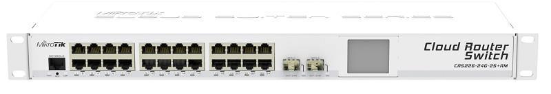"""MikroTik CRS226-24G-2S+RM L5 24xGig LAN, 2xSFP+, LCD, Rack 19"""""""