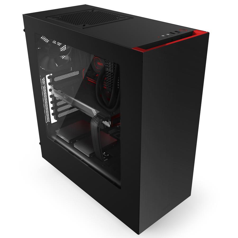 NZXT PC skříň Source 340 černo-červená