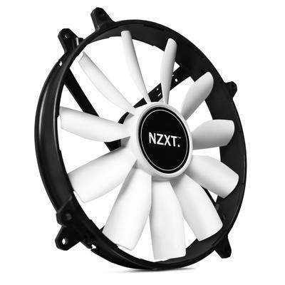 NZXT FZ Airflow Fan ventilátor LED 200x200x30mm zelený