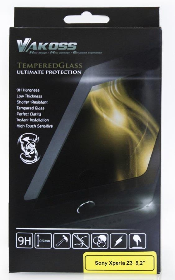 VAKOSS tvrzené ochranné sklo pro Sony Xperia Z3 Dual SIM 5,2'', 9H